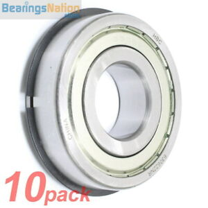 Set Of 10 Radial Ball Bearing Hbc 6306 zznr Medium Series 2 Metal Shields