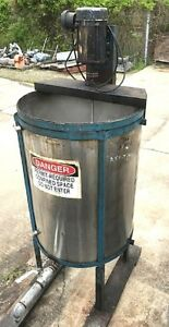 Used 100 120 Gallon Stainless Steel Mix Tank W 120v 220v Mixer