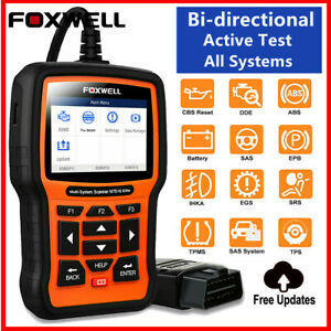 Foxwell Nt510 Elite Bi Directional Test Obd2 All System Read Scanner Reset Code