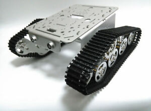 Metal Robot Chassis Track Tank Car Caterpillar Shock Absorption For Diy T300 New