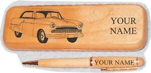 1955 Willys Bermuda Coupe Maple Pen Case Engraved