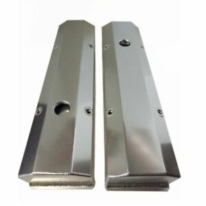 For Sbc Fabricated Tall Aluminum Valve Covers W Accessory Holes 350 383 400