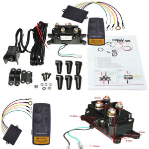 Sinoking 12V 500A Winch Solenoid Relay,Winch Contactor Button Switch Thumb for atv,utv winches