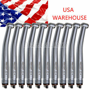 10pcs Us Midwest Nsk Style Dental High Speed Handpieces Push Clean Head 4 Holes