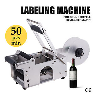 Semi automatic Round Bottle Labeller Labeling Machine 120w Upgrated