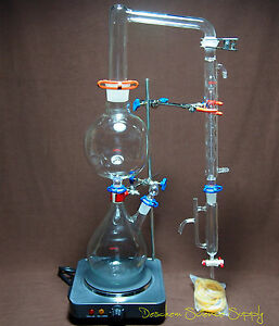 Essential Oil Steam Distillation Apparatus distillation Unit w allhin Condenser