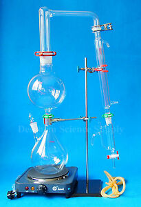 Essential Oil Steam Distillation Apparatus labratory Distillation Kit