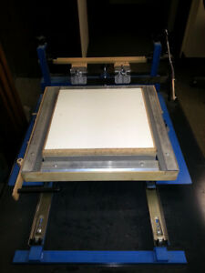 Screen Printer With Drying Cabinet For Mylar Balloons