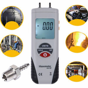 Lcd Backlight Digital Manometer Differential Air Pressure Meter Gauge T 13 79kp