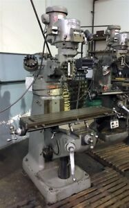 1987 Bridgeport 9 X 42 Vertical Mill With 2 Axis Dro Chrome Ways