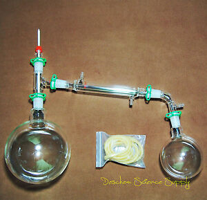 2000ml 24 40 glass Distillation Apparatus new Lab Vacuum Distill Glassware Kit