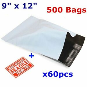 500 9x12 Poly Mailers Plastic Mailing Bags Shipping Envelopes Polymailer 2