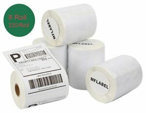 8 Rolls Thermal Shipping Labels 220 roll Compatible Dymo 1744907 4xl Labelwriter