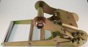 One New Super Duty 4 Ratchet Strap Handle Flat Bed Car Hauler Tie Down Dolly