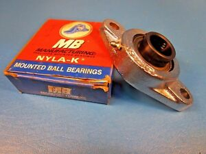 Mb Ball Bearing Nfc2251 P64349 2 bolt Flange Unit 1 Shaft Set Screw Locking