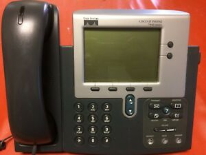 Lot Of 3 Cisco Cp 7940g 7940 Voip ip Phones W handsets And Cords