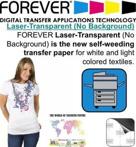 Forever Laser Light No cut Heat Transfer Paper 25 Sheets 8 5 X 11