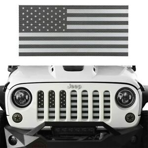 Front Insect Proof Usa Flag Grille Insert Mesh Guard For Jeep Wrangler Jk 07 18