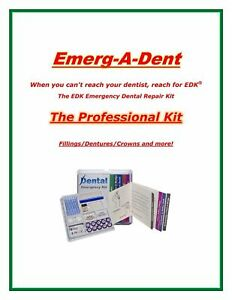 Emerg a dent Professional Dental Emergency Repair Kit Worlds Most Complete Kit