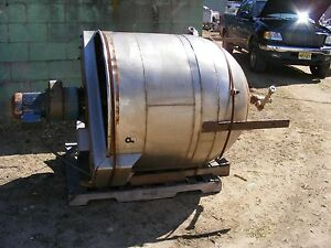 Used 150 Gallon Jacketed Mixing Kettle Tank Has Sweep Mixer W Scraper Blades