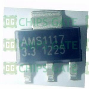 1000pcs New Ams1117 3 3 Ams1117 Lm1117 3 3v 1a Sot 223 Voltage Regulator Ic