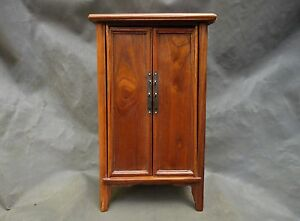 19th Century Salesman S Sample Chinese Pine Chest Mini Armore Display Cabinet