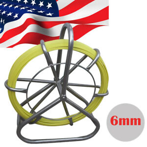 Poratble Fish Tape Fiberglass Wire Cable Rod Duct Rodder Fishtape Puller 6mm Ce