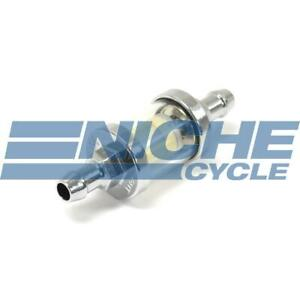 Universal 5 16 8mm Chrome 3 5 Glass Reusable Washable Inline Fuel Filter