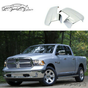 Chrome For 2013 2018 Dodge Ram 1500 2500 Mirror Covers With Turn Signal Cut outs