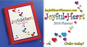 2018 Joyful Heart Planner Colorful Fun Organized Monthly weekly Calendars
