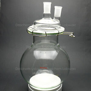 5000ml glass Reaction Flask 5litre 24 40 two neck round Bottom Chemistry Reactor