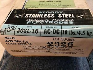 308l 16 5 32 Vacuum Sealed 10 Stainless Steel Welding Electrodes