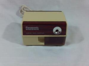 Vintage Panasonic Auto stop Electric Pencil Sharpener Kp 110