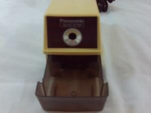 Vintage Panasonic Auto stop Electric Pencil Sharpener Kp 100