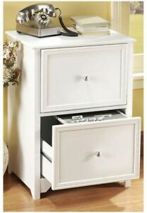 New Home Decorators Collection 2 Drawer Wood File Cabinet White Office Furniture