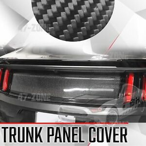 For 15 17 Ford Mustang Gloss Black Real Carbon Fiber Trunk Panel Cover Boot