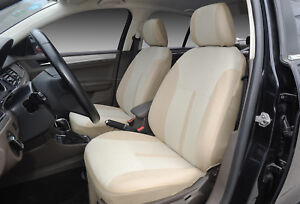 Car Seat Covers 2 Front Semi Custom Fabric Compatible To Volkswagen 861 Tan