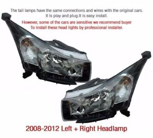 Oem Parts Head Light Lamp Left Right Assembly For Chevrolet 2008 2012 Cruze