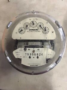 S5s Sangamo Watthour Meter 200cl 120v 4wy 7 Jaw 79996624
