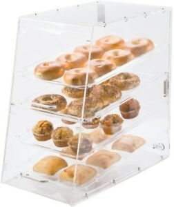 4 Tray Restaurant Pastry Doughnut Countertop Baked Goods Bakery Display Case