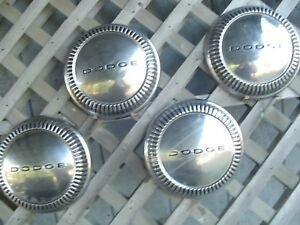 Vintage 1960 1961 Max Wedge Plymouth Dodge Chrysler Dog Dish Hubcaps Center Caps
