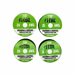 Kanthal A 1 Wire 1000 Ft 4 Pack 24 26 28 32 Awg Gauge Spools Each Roll 25