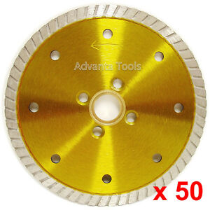 50pk 5 Granite Turbo Diamond Blade W 4 Screw Holes For Angle Grinders