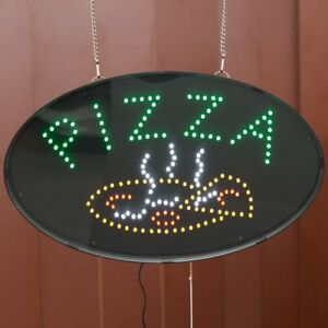 Led Pizza Sign Commercial Restaurant Pizzeria Business Animated Display Signage