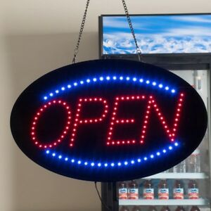 Led Open Sign Commercial Restaurant Business Bright Animated Display Signage