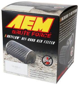 Aem Universal 3 Flg 5 Od 6 5 H Dryflow Brute Off Road Conical Red Air Filter