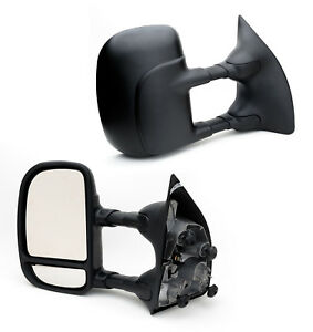 For 99 07 Ford F250 F350 Superduty Sd Manual Telescoping Towing Mirror Pair L r
