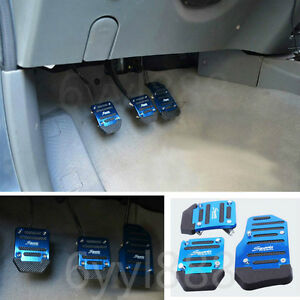 3pcs Car Universal Aluminum Manual Transmission Non Slip Car Pedal Cover Set Kit