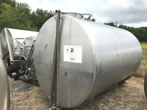 Used 3 000 Gallon Stainless Steel Horizontal Tank Last Used In Distillery