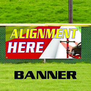 Alignment Here Wheel Auto Workshop Tire Balancing Business Vinyl Banner Sign